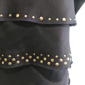 BCBGMaxAzria Dresses - 💘 BCBGMAXAZRIA Navy & Gold Dress Size Small
